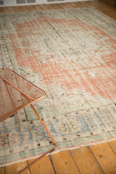 Vintage Distressed Oushak Carpet / ONH item 7299 Image 10