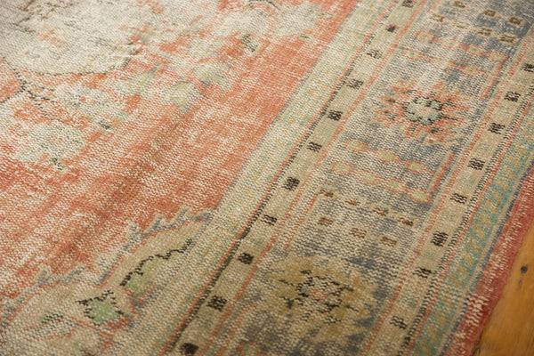 Vintage Distressed Oushak Carpet / ONH item 7299 Image 11