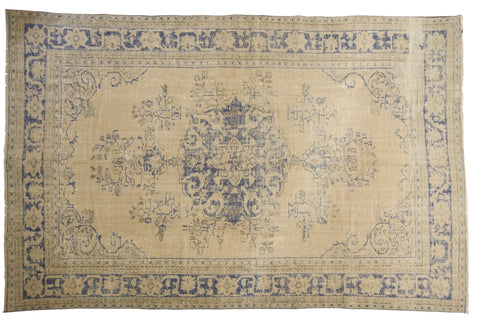 Vintage Distressed Oushak Carpet / ONH item 7300
