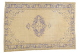 Vintage Distressed Oushak Carpet / ONH item 7301