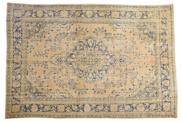 Vintage Distressed Oushak Carpet / ONH item 7304