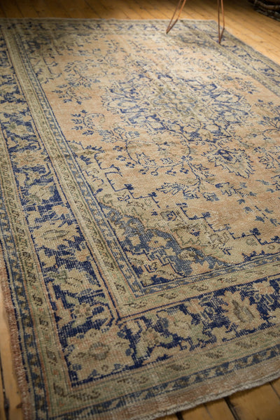 Vintage Distressed Oushak Carpet / ONH item 7304 Image 7