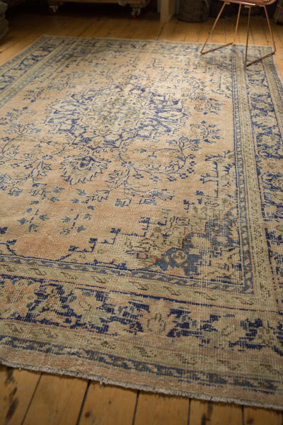 Vintage Distressed Oushak Carpet / ONH item 7304 Image 9