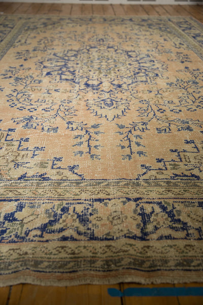 Vintage Distressed Oushak Carpet / ONH item 7304 Image 16