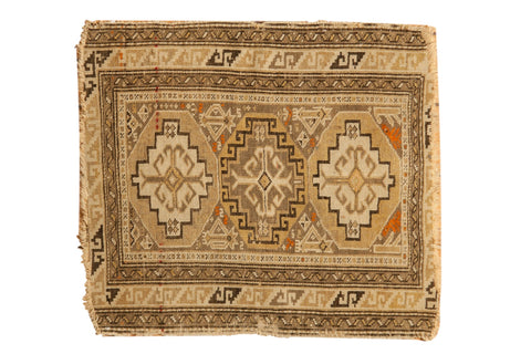 2x2.5 Antique Caucasian Square Rug Mat // ONH Item 7340