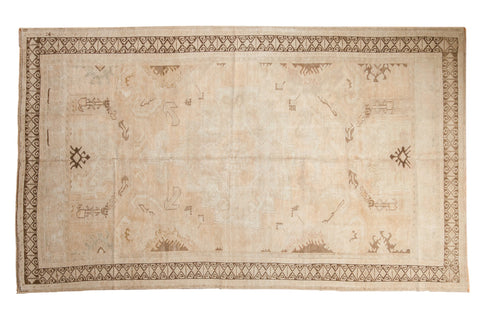 Vintage Distressed Oushak Carpet / ONH item 7346 Image 1