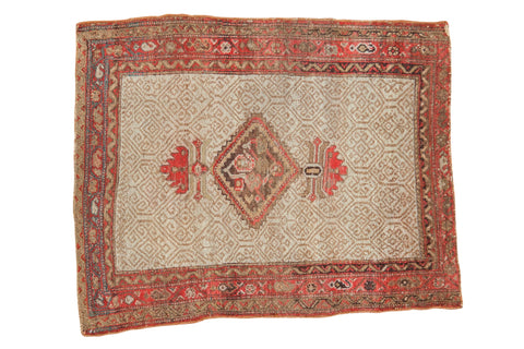 Antique Malayer Square Rug / ONH item 7374