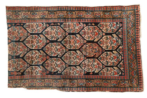 3x5 Antique Fragment Northwest Persian Rug // ONH Item 7376