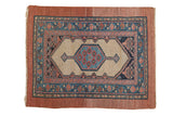 Antique Camel Hair Serab Square Rug / ONH item 7381