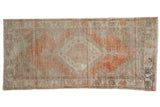 Vintage Distressed Oushak Rug Runner / ONH item 7482