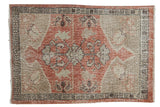 Vintage Distressed Oushak Rug / ONH item 7486