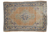 Vintage Distressed Oushak Square Rug / ONH item 7487