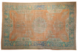 Vintage Distressed Oushak Carpet / ONH item 7489