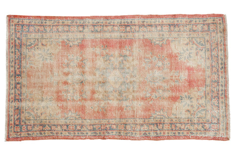2.5x5 Vintage Distressed Oushak Rug Runner // ONH Item 7548