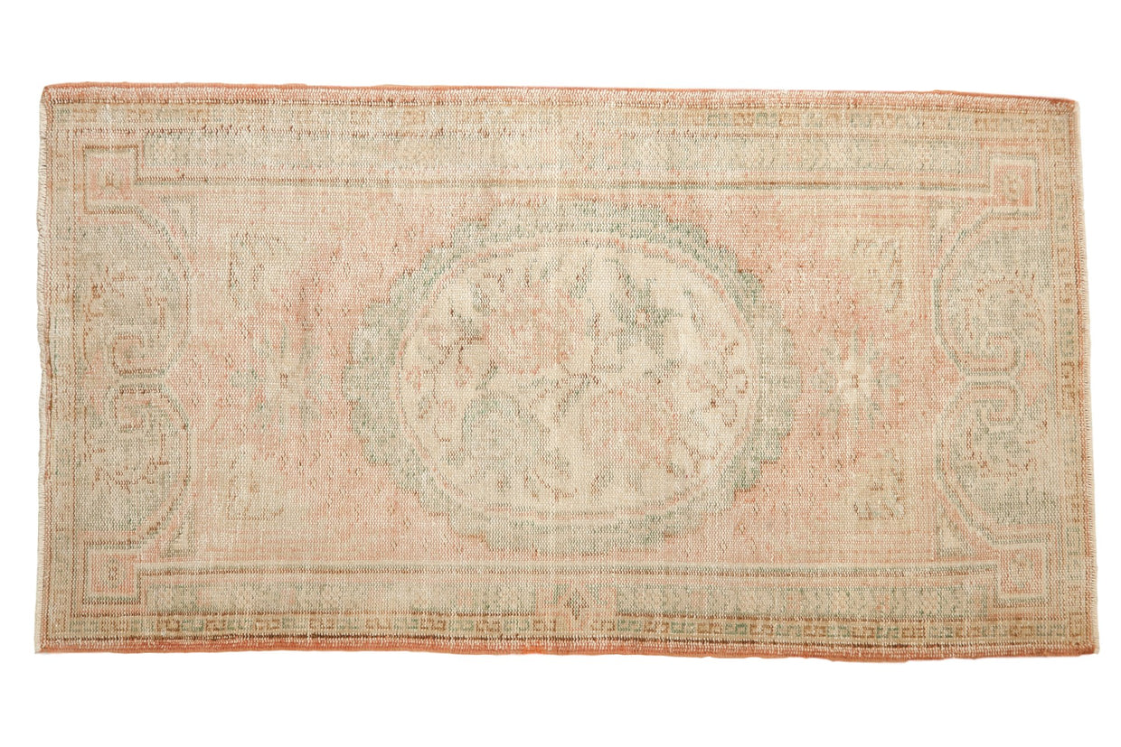 3x5.5 Vintage Distressed Oushak Rug // ONH Item 7550