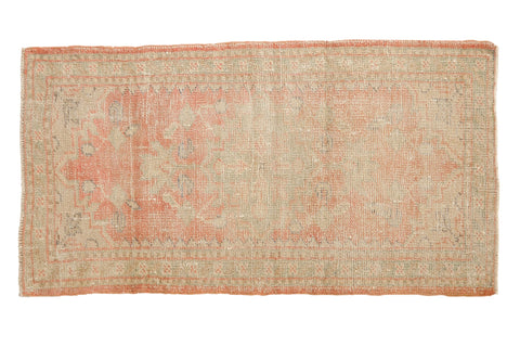 2x4.5 Vintage Distressed Oushak Rug Runner // ONH Item 7551