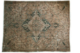 Vintage Distressed Fragment Heriz Carpet / ONH item 7567