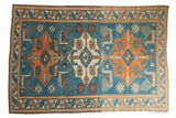Vintage Distressed Oushak Carpet / ONH item 7570