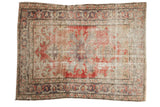 Vintage Distressed Oushak Rug / ONH item 7572