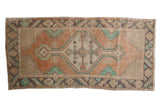Vintage Distressed Oushak Rug Runner / ONH item 7573