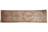 Vintage Distressed Oushak Rug Runner / ONH item 7574
