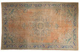 Vintage Distressed Oushak Carpet / ONH item 7575
