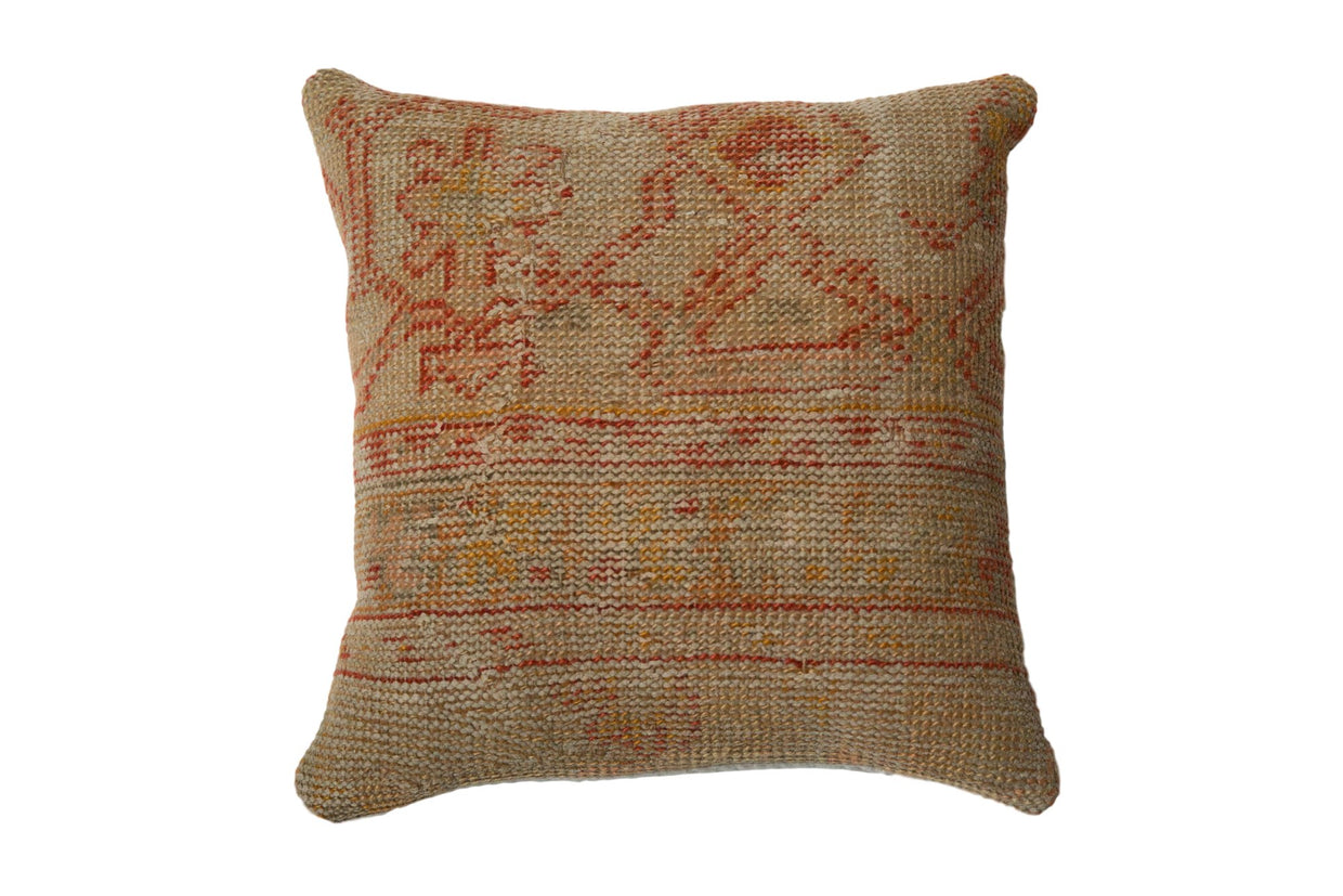 Vintage Turkish Rug Fragment Throw Pillow // ONH Item 7746