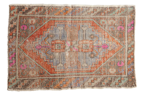 2.5x4 Vintage Distressed Oushak Rug // ONH Item 7757