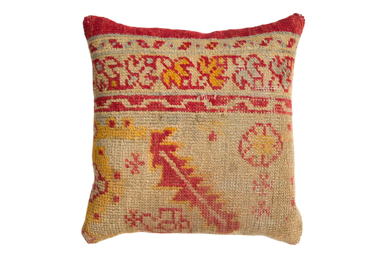Antique Rug Fragment Throw Pillow // ONH Item 7784