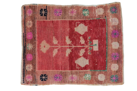 2.5x3 Vintage Distressed Oushak Square Rug // ONH Item 7805