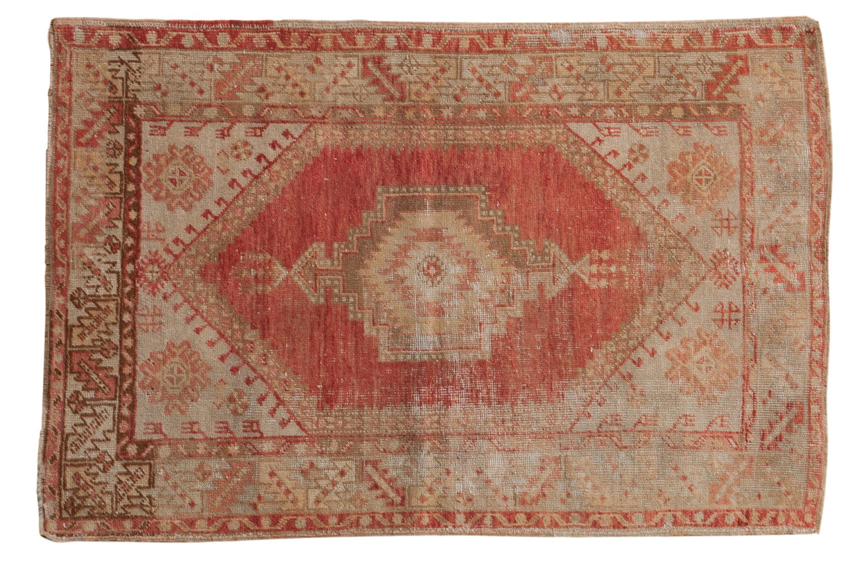 3.5x5 Vintage Distressed Oushak Rug // ONH Item 7807