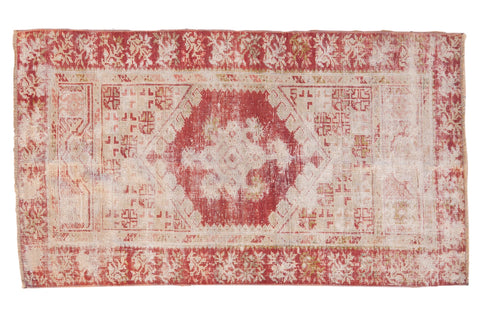 2.5x5 Vintage Distressed Oushak Rug Runner // ONH Item 7819