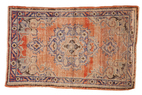 2.5x4 Vintage Distressed Oushak Rug // ONH Item 7851