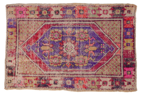 2.5x4 Vintage Distressed Oushak Rug // ONH Item 7852
