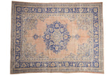 7.5x10 Vintage Distressed Oushak Carpet // ONH Item 7860