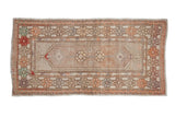 2.5x5 Vintage Distressed Oushak Rug Runner // ONH Item 7861
