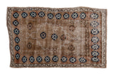 2.5x4 Vintage Distressed Oushak Rug // ONH Item 7863