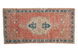 2.5x5.5 Vintage Distressed Oushak Rug Runner // ONH Item 7864