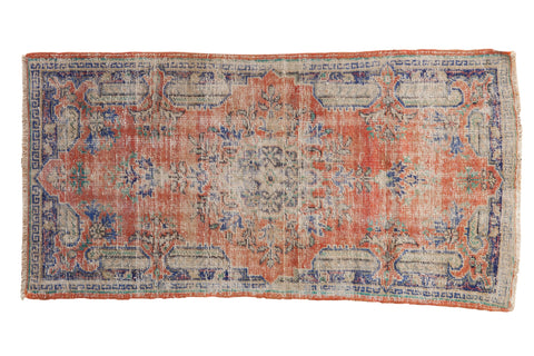 3x5.5 Vintage Distressed Oushak Rug // ONH Item 7889