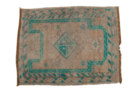 2.5x3 Vintage Distressed Oushak Square Rug // ONH Item 7890