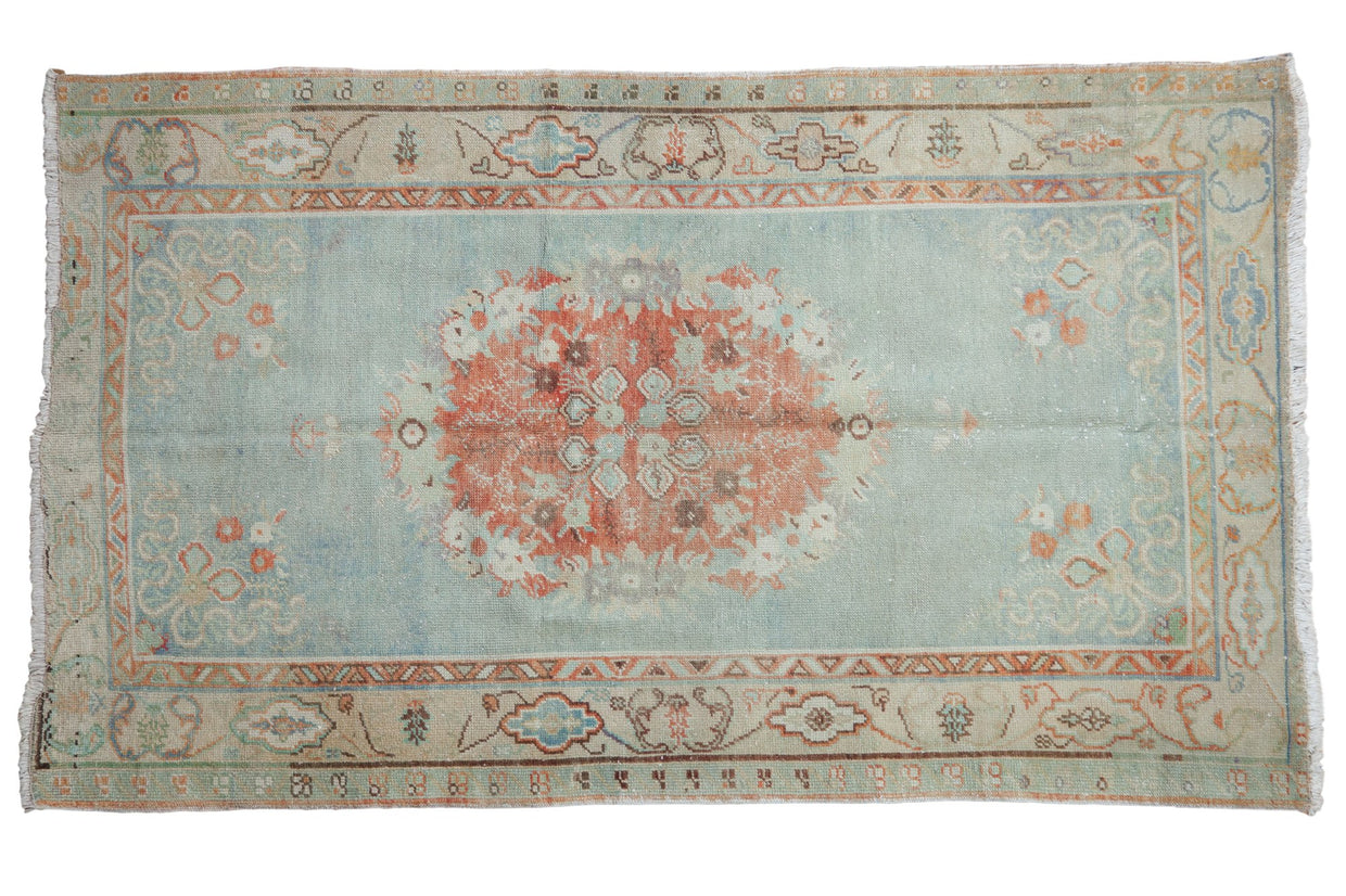 3.5x6 Vintage Distressed Oushak Rug // ONH Item 7898