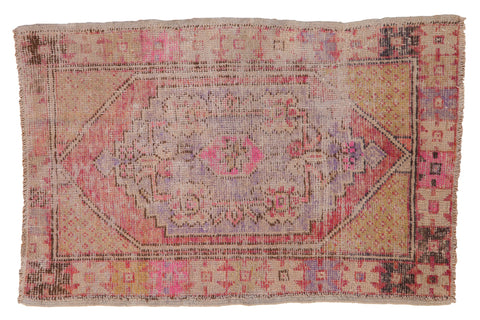 2.5x4 Vintage Distressed Oushak Rug // ONH Item 7911