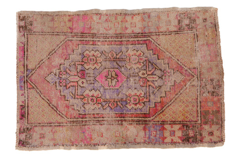 2.5x4 Vintage Distressed Oushak Rug // ONH Item 7912