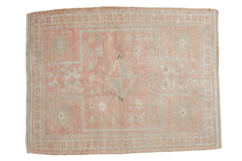 3x3.5 Vintage Distressed Oushak Square Rug // ONH Item 7932