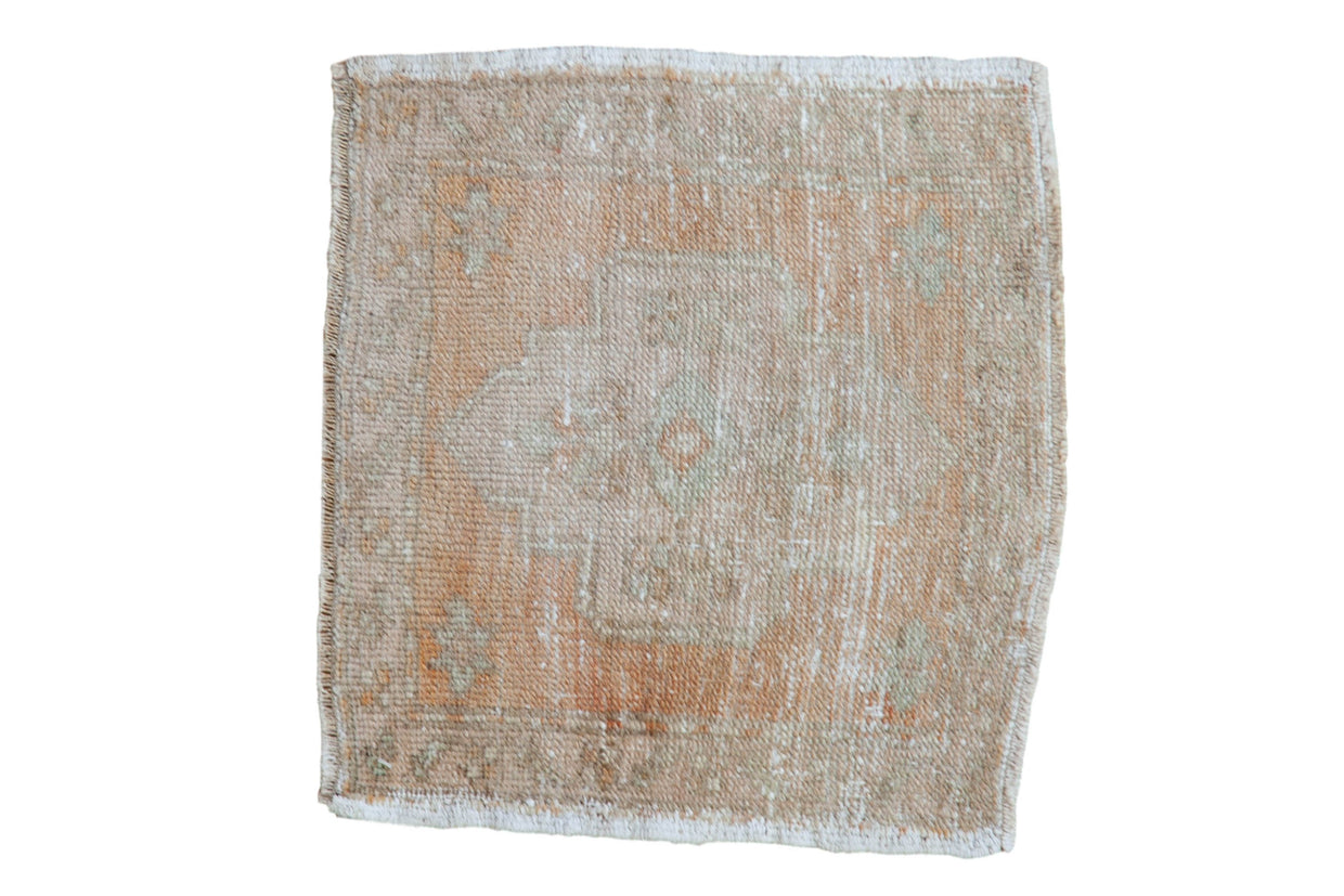 1.5x1.5 Vintage Distressed Oushak Square Rug Mat // ONH Item 7944