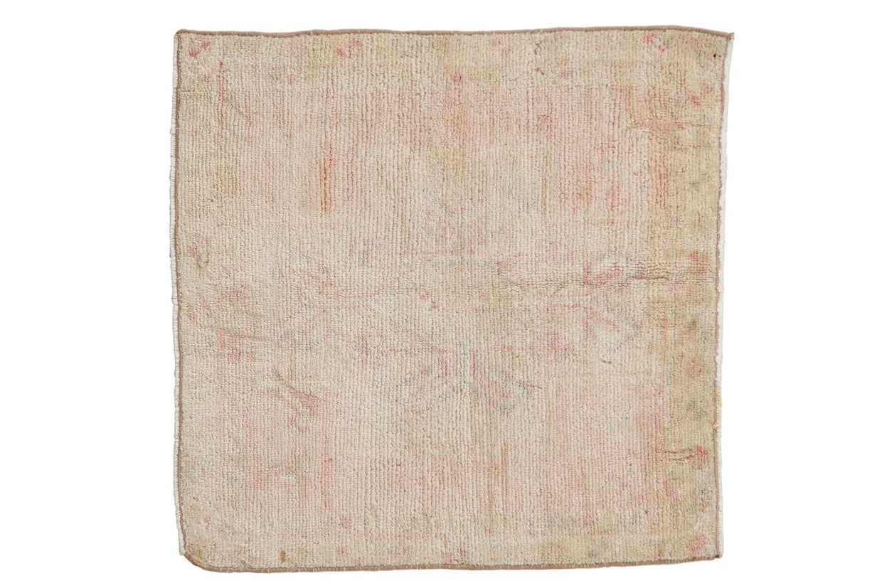 2x2 Vintage Distressed Oushak Square Rug Mat // ONH Item 7946