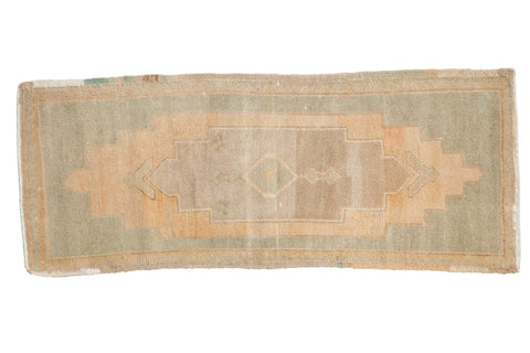 1.5x4 Vintage Distressed Oushak Rug Mat Runner // ONH Item 7956