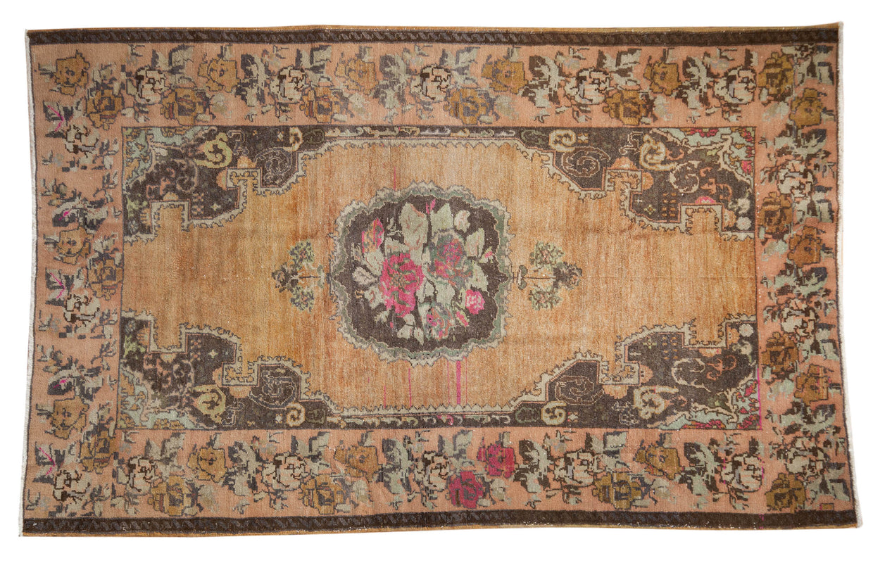 4.5x7.5 Vintage Distressed Oushak Rug // ONH Item 7989