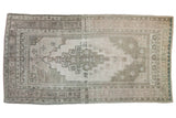 5x9.5 Vintage Distressed Oushak Carpet // ONH Item 8015