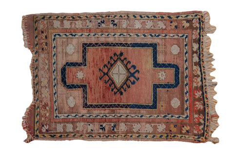 2.5x3 Vintage Distressed Anatolian Square Rug // ONH Item 8031
